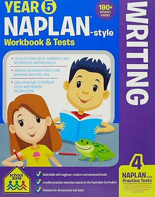 School Zone Year 5 Naplan-Style Writing Workbook and Tests NEW - Free Postage
