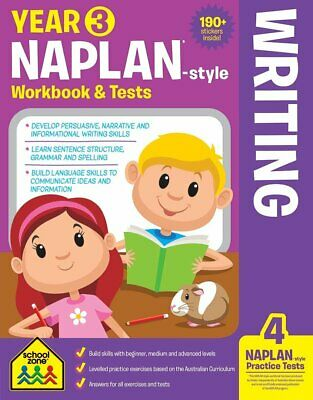 School Zone Year 3 Naplan-Style Writing Workbook and Tests NEW - Free Postage