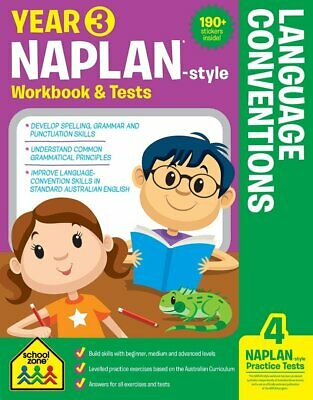 School Zone Year 3 Naplan-Style Language Conventions Workbook and Tests NEW