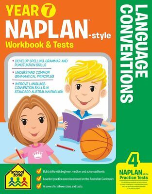 School Zone Year 7 Naplan-Style Language Conventions Workbook and Tests NEW