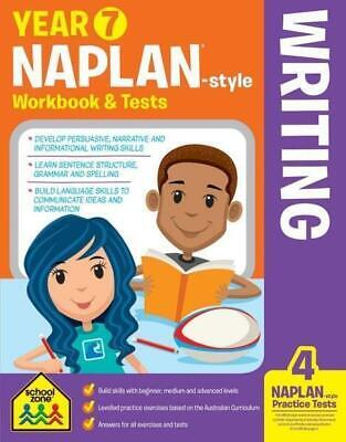 School Zone Year 7 Naplan-Style Writing Workbook and Tests NEW - Free Shipping!