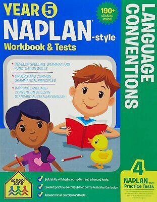 School Zone Year 5 Naplan-Style Language Conventions Workbook and Tests NEW