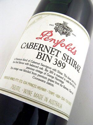 1986 PENFOLDS Bin 389 Cabernet Shiraz F Isle of Wine