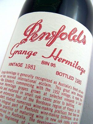1981 PENFOLDS GRANGE BIN 95 Shiraz Damaged label Isle of Wine
