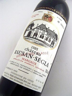 1985 CHATEAU RAUSAN-SEGLA Margaux 2me Cru Bordeaux Isle of Wine