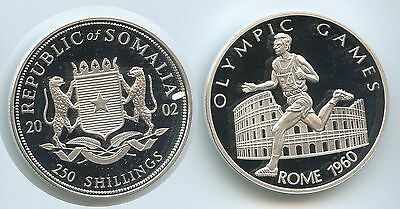 G2007 - Somalia 250 Shillings 2002 Silber Olympia 1960 Rome Olympic Games