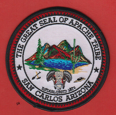 The Great Seal Of The Apache Tribe San Carlos Arizona Patch