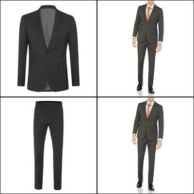 New Oxford MARLOWE WOOL SUIT JACKET GRY X WITH MATCHING TROUSERS