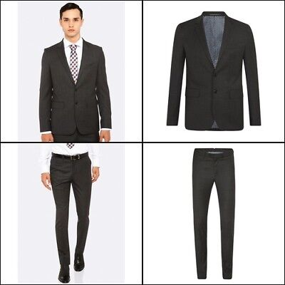 New Oxford AUDEN SUIT JACKET CHARCOAL X WITH MATCHING TROUSERS