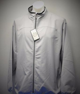 New Mens LARGE long sleeve golf jacket Grandfather Golf & Country Club silver
