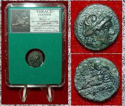 Ancient Greek Coin ODESSOS Thrace Apollo and River God