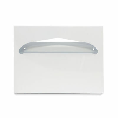 Toliet Seat Cover Dispenser, Metal, Square Corners, White 1 ea