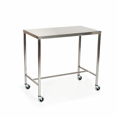 """Stainless Steel Instrument Table with H-Brace 72""""L x 24""""W x 34""""H 1 ea"""