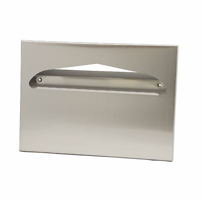 Toliet Seat Cover Dispenser, Metal, Square Corners,Stainless 1 ea