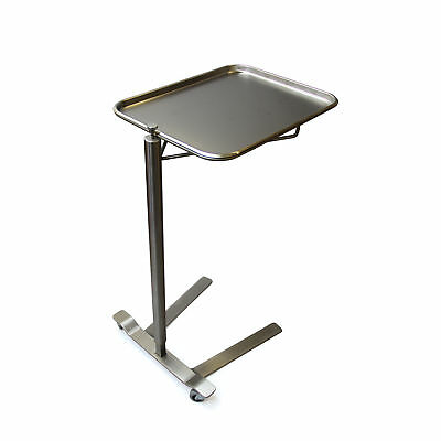 """Stainless Steel Thumb Control Mayo Stand 16.25"""" W x 21.25"""" L Tray Size 1 ea"""