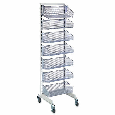 "Mobile Wall System With 7- 11.875""D Baskets 1 ea"
