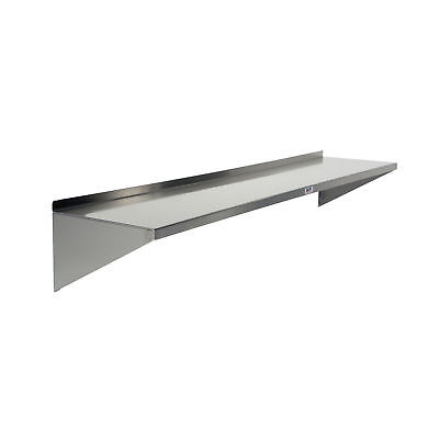 """Stainless Steel Wall Shelf 12""""D 90""""W - 3 Supports 1 ea"""