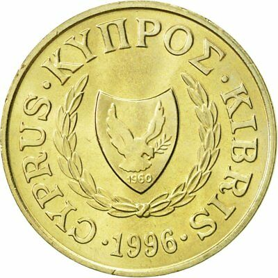 [#468444] Zypern, 2 Cents, 1996, VZ, Nickel-brass, KM:54.3