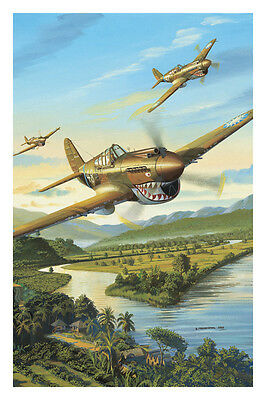 "Carte Postale Curtiss P-40 ""Tigres volants"""