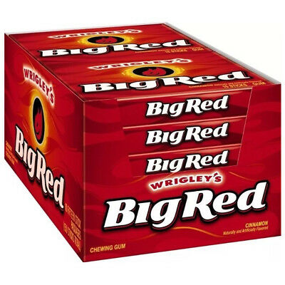 BIG RED Cinnamon Chewing Gum Wrigley's American Candy 1,5,10,20,40,70,80 Packs