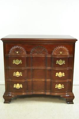 Chippendale 4 Drawer Mahogany Goddard Block Front Chest by Wellington Hall