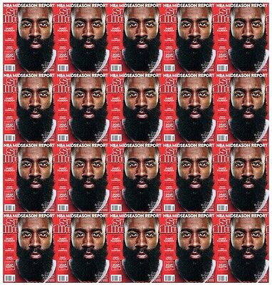 8cd02d24bc7e Lot of 20 Sports Illustrated James Harden Houston Rockets 2015 No Mailing  Label