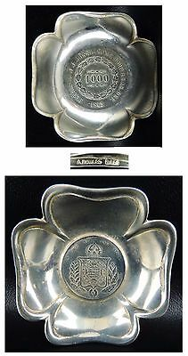BRAZILIAN SILVER COIN-19th CNTRY -1000 REIS in FINELY WORKED DISH- NUMISMATIC