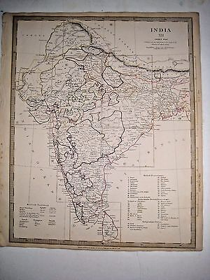 1835 SDUK: Map of India (XII) - general index map -South Asia