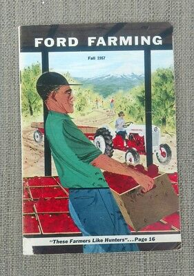 Vintage ADVERTISING FORD FARMING MAGAZINE FALL 1957