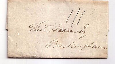 1816 Pre-stamp letter to Buckingham (London)