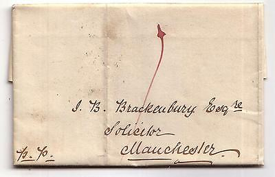 1841 Pre-stamp letter to Manchester