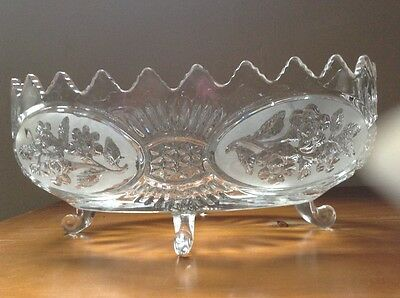 Crystal Jardinere (Large Bowl) Crystal Vintage