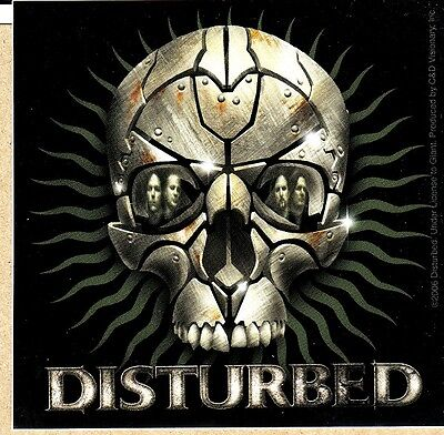 Disturbed sticker skull face logo licensed new