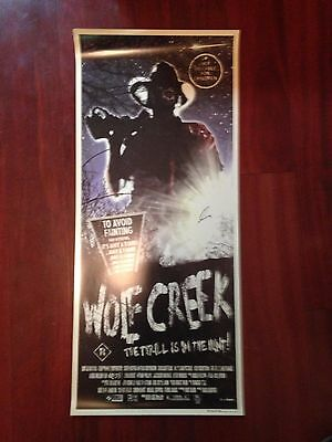 2005	Wolf Creek Promo Daybill Signed by Director Greg Mclean HORROR Ozploitation