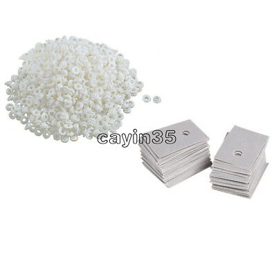 50PCS  White Transistor Plastic Washer Insulation Washer + Pads Silicone TO-220