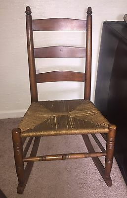 Antique Rush Seat Rocking Chair