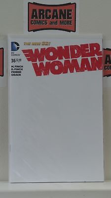 Wonder Woman #36 Blank Sketch Variant Cover Nm Dc Comics New 52 2015