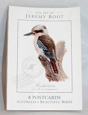 The Art of Jeremy Boot 8 Postcards Australian Beautiful Birds