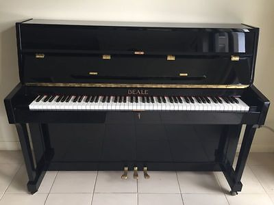 Polished Black Upright Beale UP108M Piano and Seat