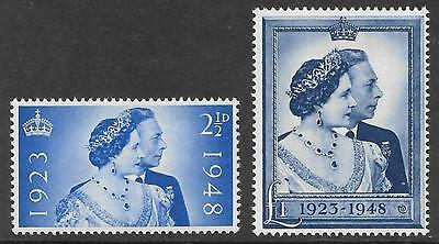 1948 GB Royal Silver Wedding set of two unmounted mint. SG 493/4 cat £40.00.