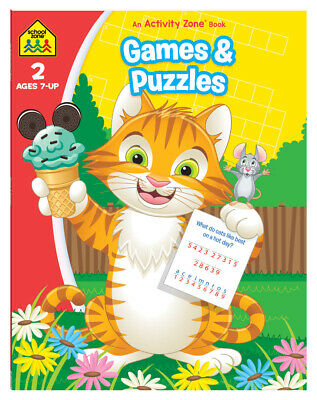 School Zone Games & Puzzles (Ages 7-9) by Hinkler Books NEW Free Shipping!