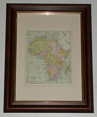 Print over 110 years old Map of Africa Political (also available unframed) x