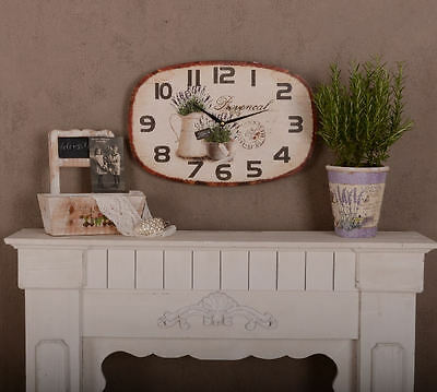 Vintage Wall Clock Maison Provence Watch Shabby Kitchen Clock Lavender
