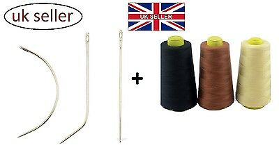 2500m HAIR WEAVING thread+3 NEEDLES CIJ shape for sewing weft weave extentions