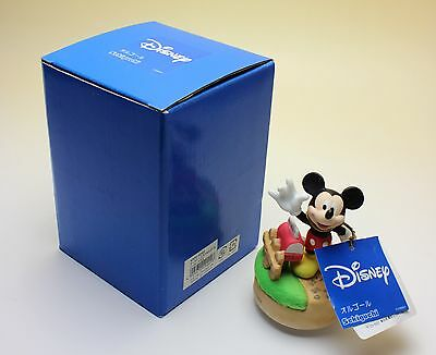 Disney Bisque Porcelain Mickey Mouse March Mailbox Music Box Sekiguchi MIB