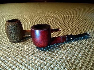 """Vtg KAYWOODIE 506 Imported #95B & Corn Cob Smoking Pipes 5""""L Lot of 2 PRE OWNED"""
