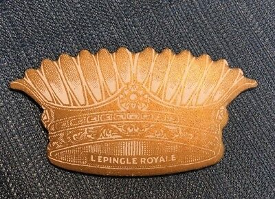 Vintage/Antique Sewing Pin Cushion Disc-Crown Shape-L'Epingle Royale