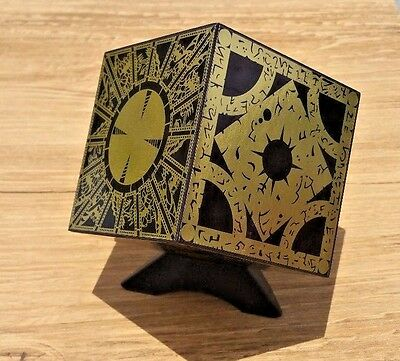Hellraiser Puzzle Box Foil Face Cube Lament Configuration w/ Stand FULL SIZE