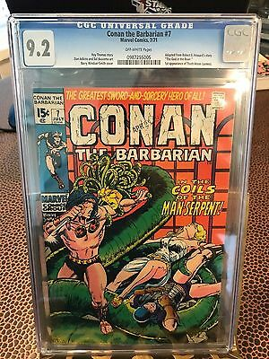 Conan the Barbarian #7 CGC 9.2 OW pages