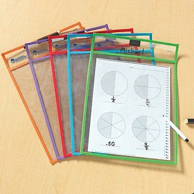 Wipe Clean pockets, Pen and Eraser Learning Resources Packs of 1, 3 and 5